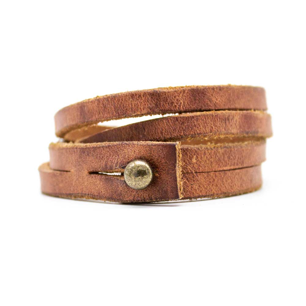 Double Wrap Leather Bracelet - Jean Shop NYC