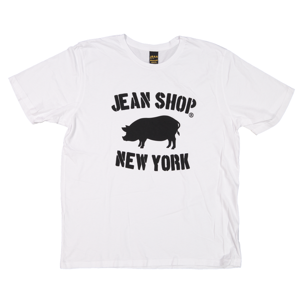 Hank Stencil Logo, White - Jean Shop NYC