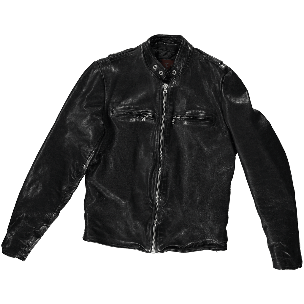 Men's Leather Motorcycle Jacket - Jean Shop NYC