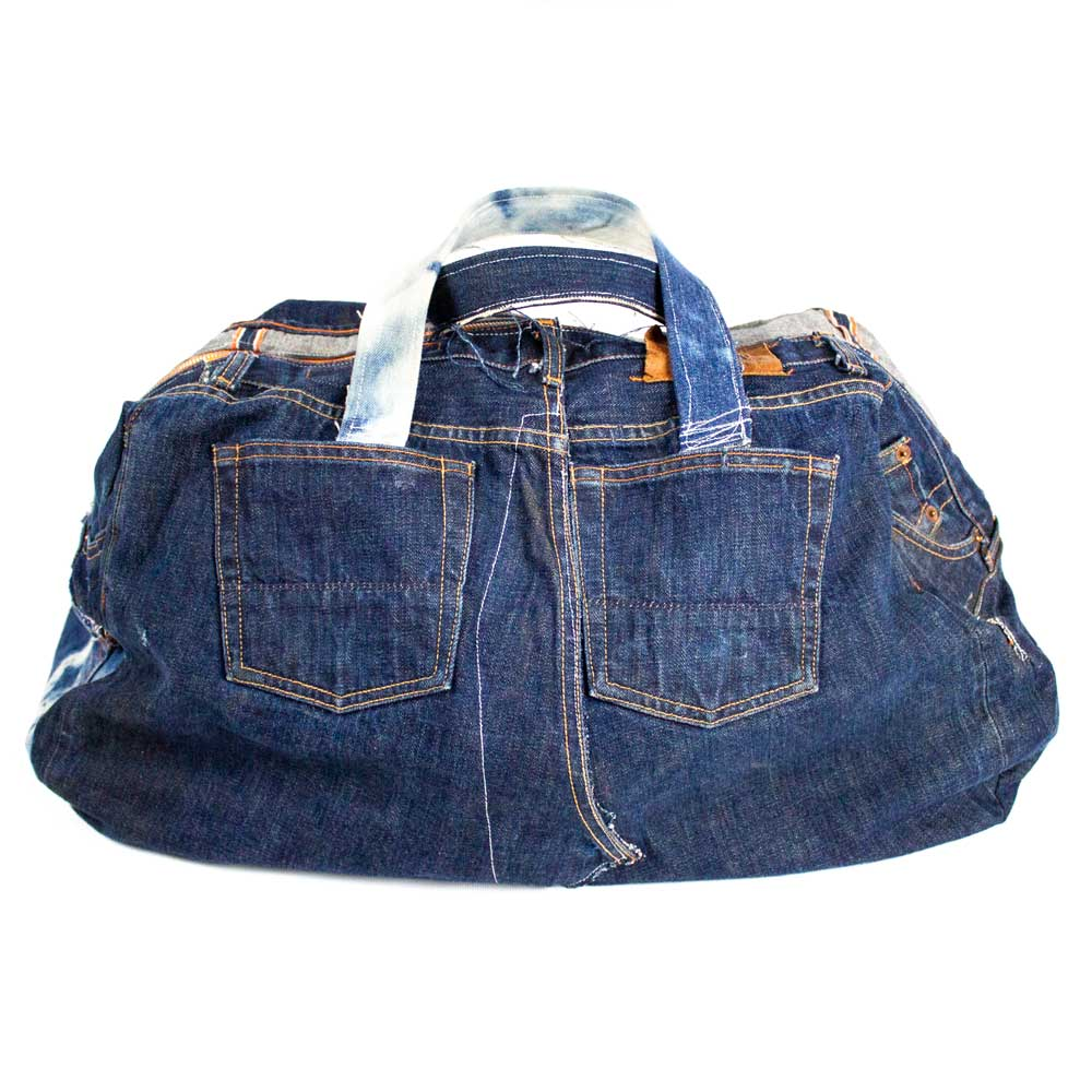 Patchwork Denim Duffle Bag - Jean Shop NYC