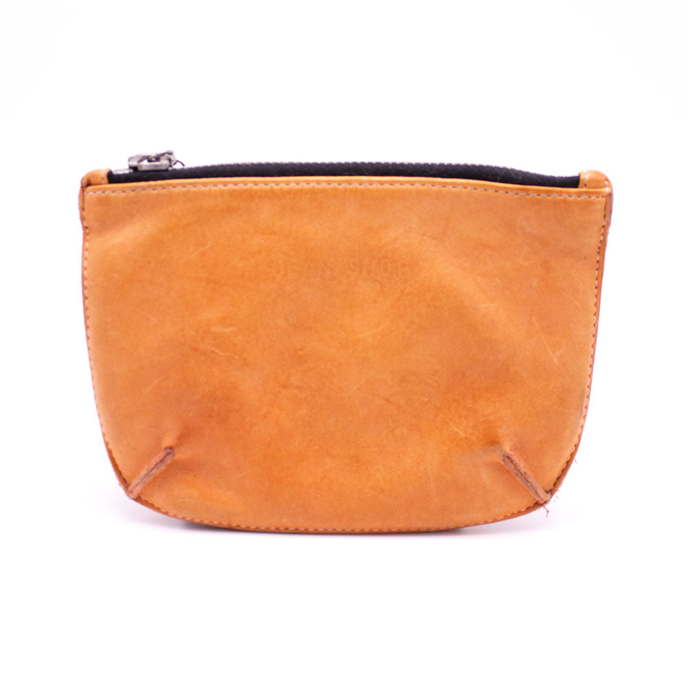 Distressed Leather Pouch, Washed Tan - Jean Shop NYC