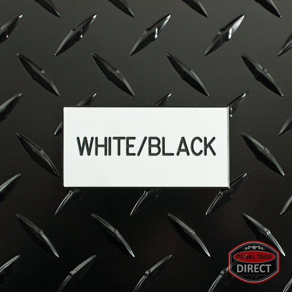 Custom Black Text on White Plastic Panel Tags