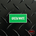 Custom White Text on Green Plastic Panel Tags