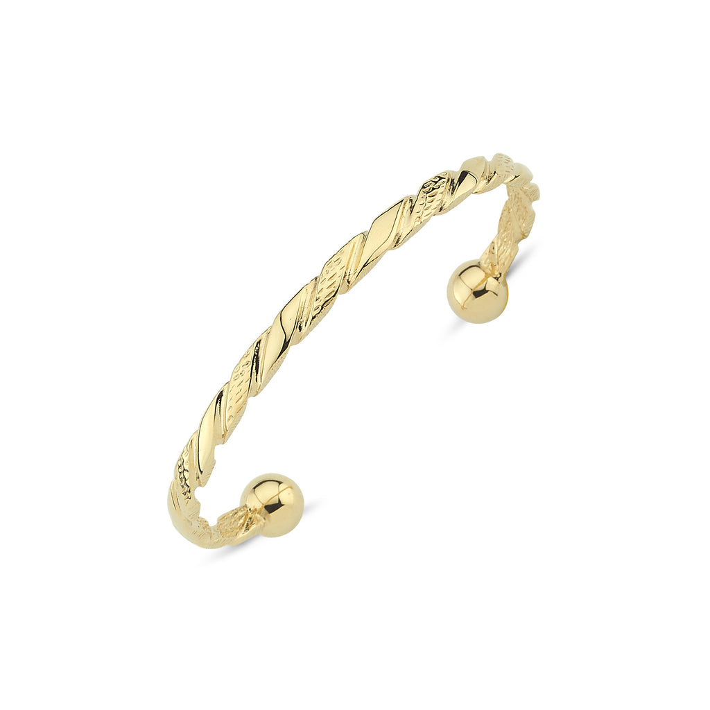 9CT GOLD GENTS BANGLE