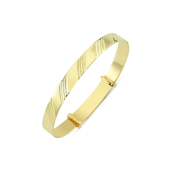9CT GOLD BABY EXPANDABLE BANGLES