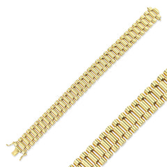 9CT GOLD GENTS BRACELET