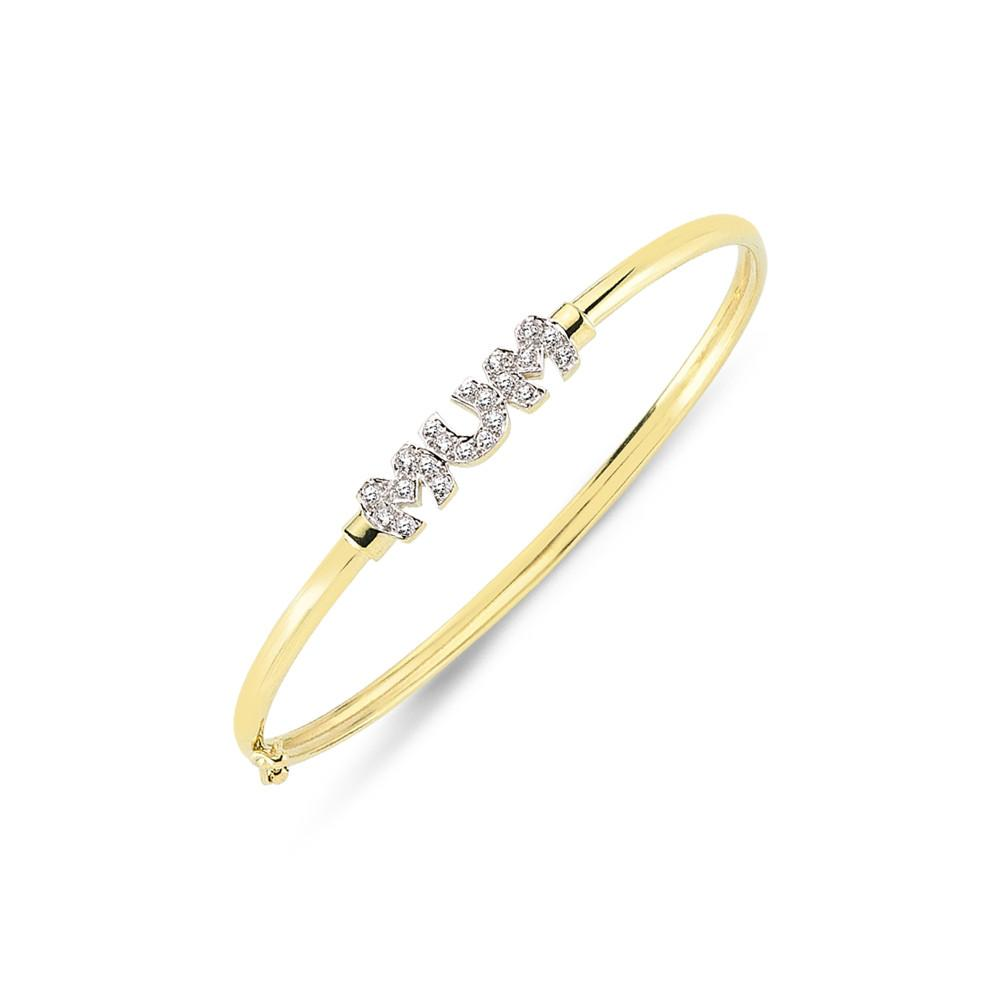 9CT GOLD LADIES BANGLE