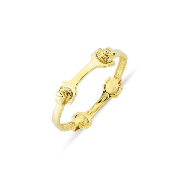 9CT GOLD FOUR PIECE SCREW BANGLE