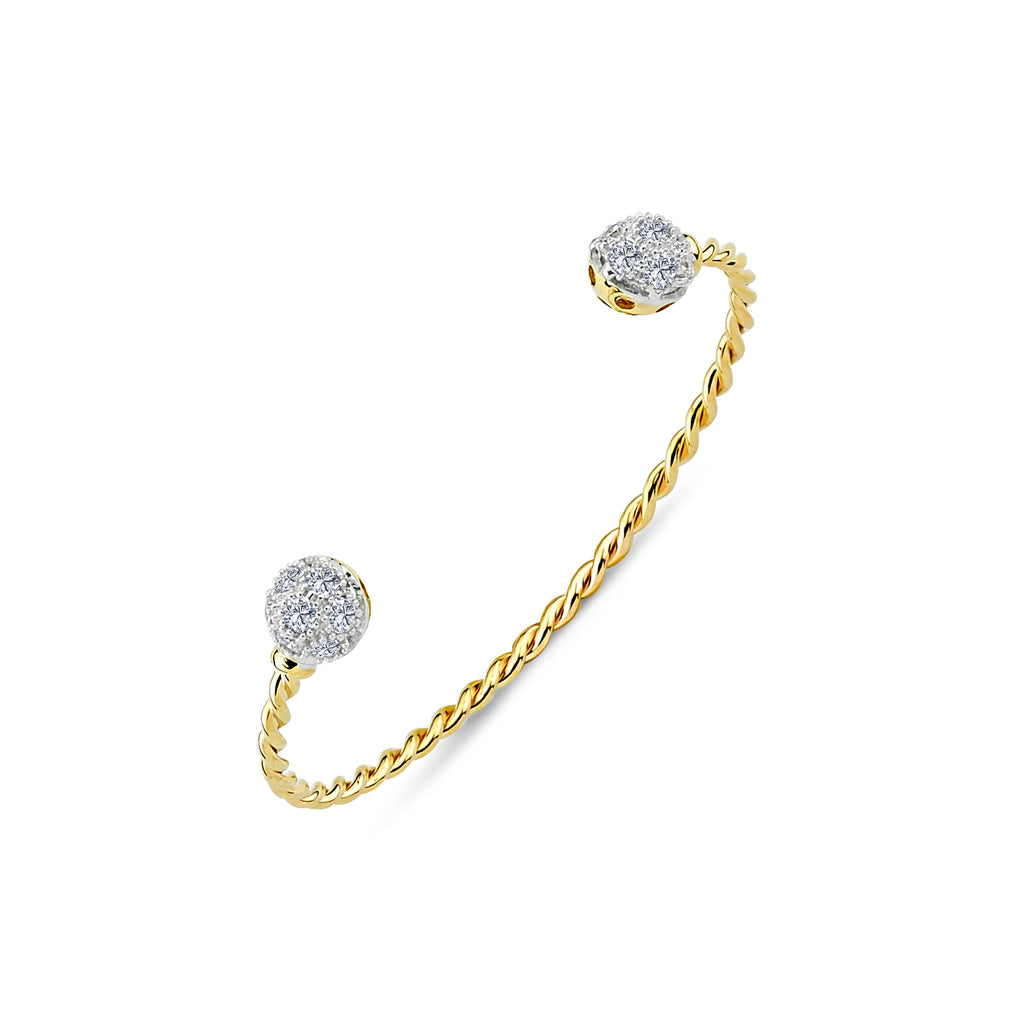 9CT GOLD BABY / KIDS SOLID BANGLE
