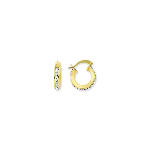 9CT GOLD CRYSTAL EARRINGS