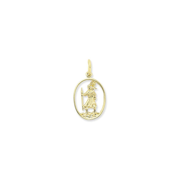9CT GOLD ST CHRISTOPHER PENDANTS
