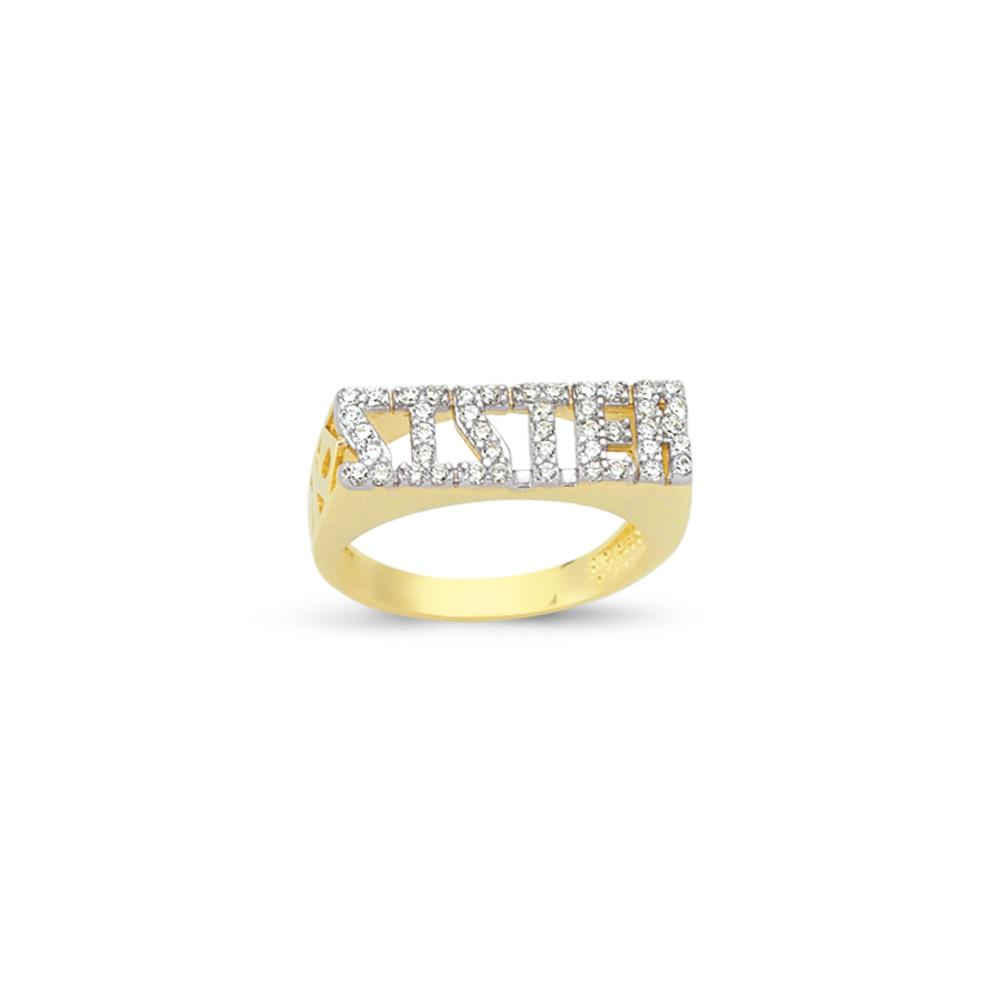 9CT GOLD SISTER RING