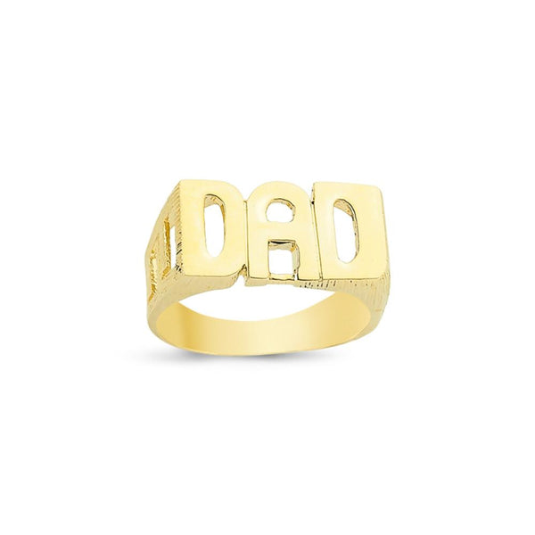 9CT GOLD DAD RING