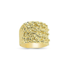 9CT GOLD GENTS RINGS