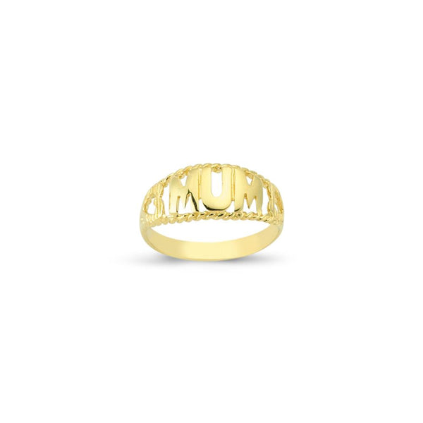 9CT GOLD MUM RING