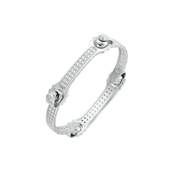 SILVER GENTS BANGLE