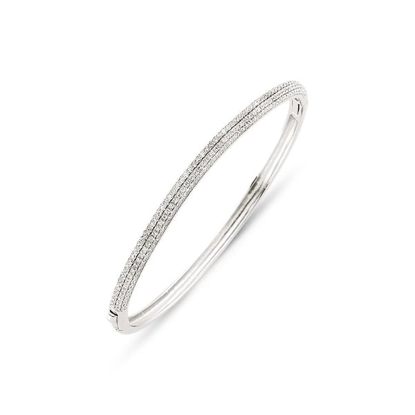 Silver Ladies Bangles