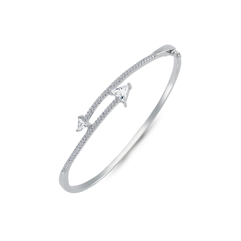 SILVER LADIES BANGLE