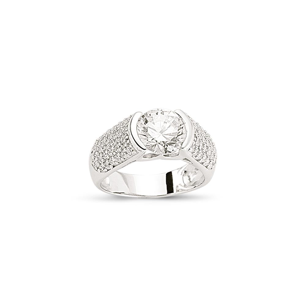 SILVER LADIES RING