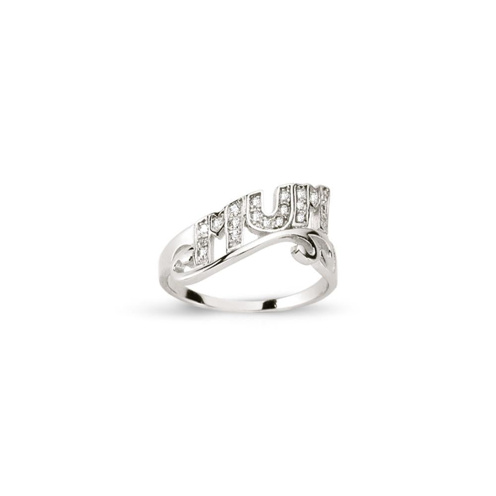 SILVER MUM RING