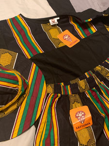 Kente shorts,shirt and hat set
