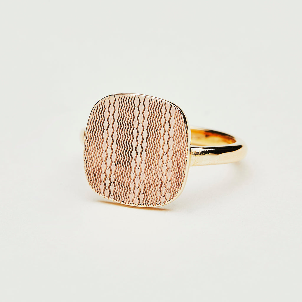 Antique cuff link made into a ring