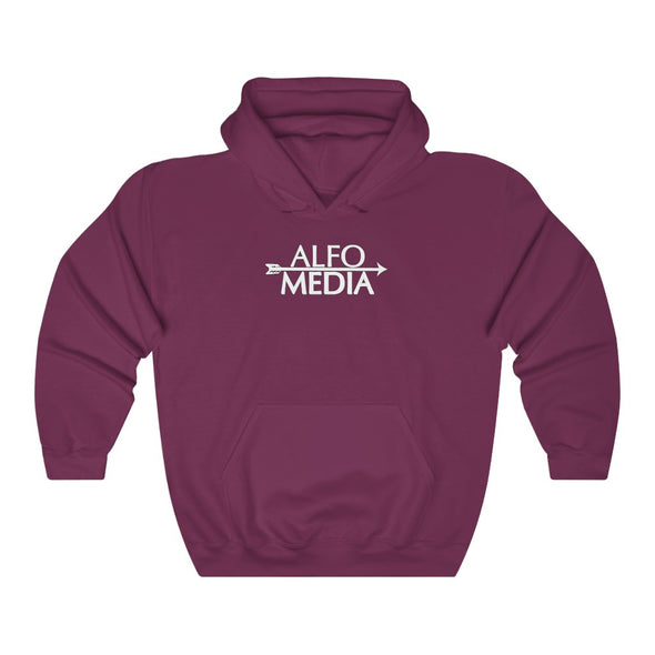 Alfo Media | White Arrow Hoodie