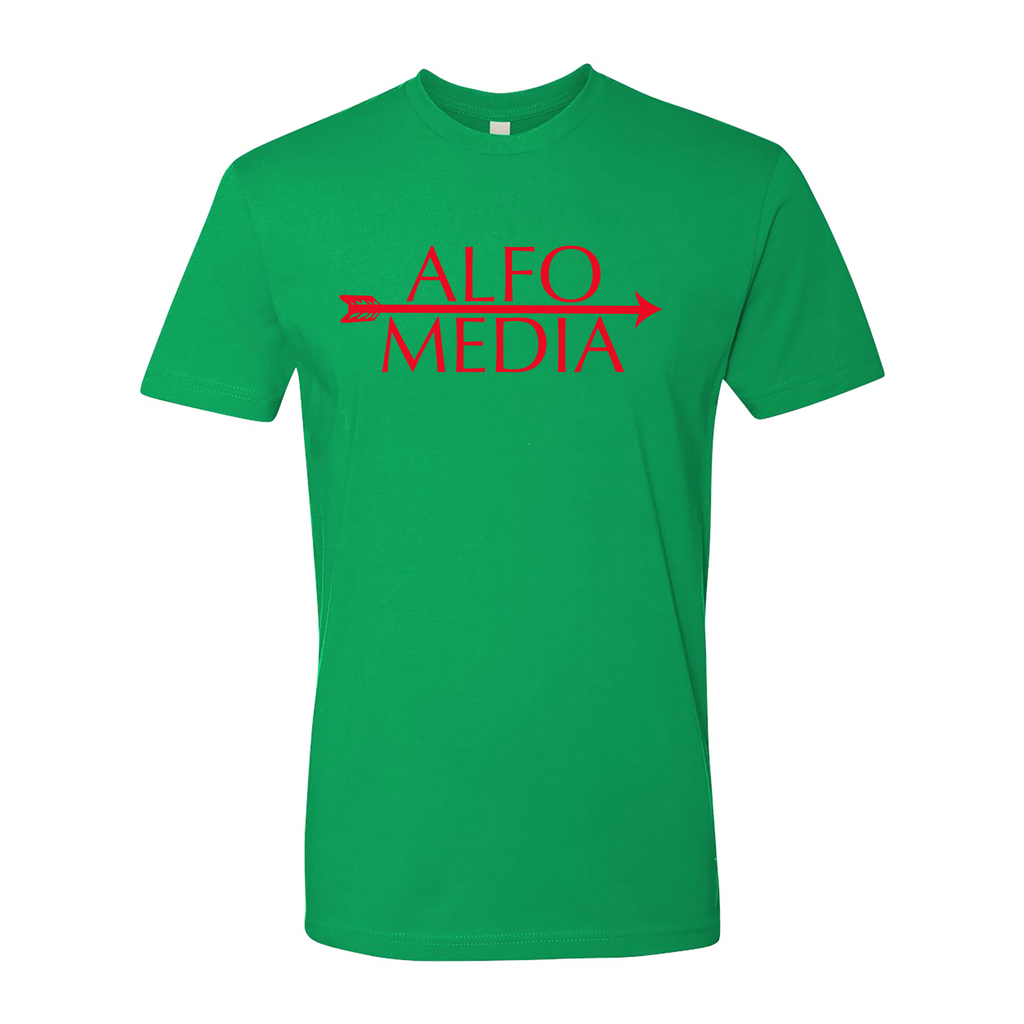 Alfo Media T-shirt - Red on Green