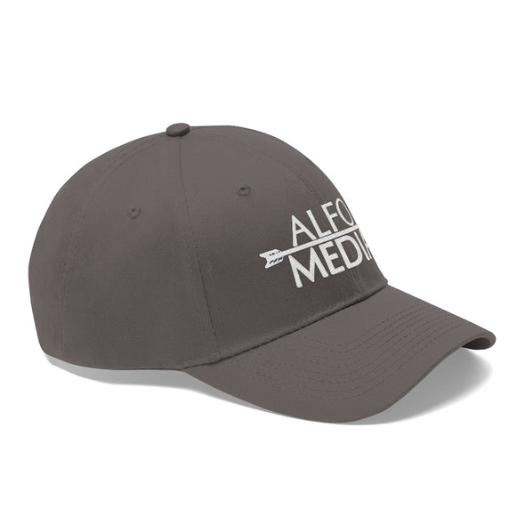 Alfo Media | White Arrow Twill Hat