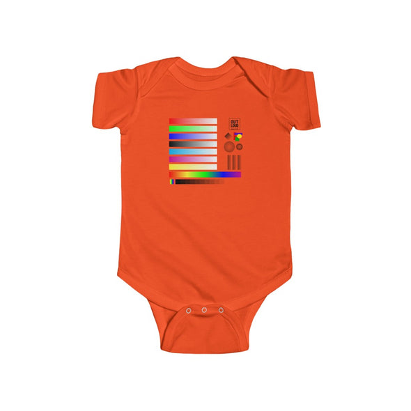 Infant Fine Jersey Bodysuit - SAMPLE (LIGHT COLORS)