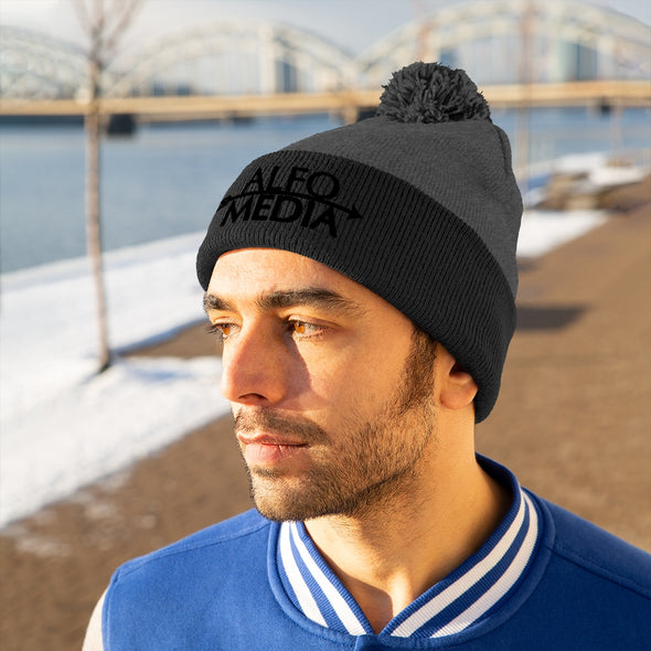 Alfo Media | Black Arrow Pom Pom Beanie