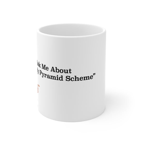 Simon Whistler - Pointing Pyarmid Scheme Mug