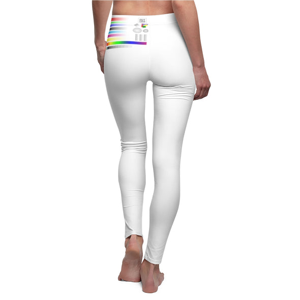 Women's Cut & Sew Casual Leggings - SAMPLE (WHITE ONLY)