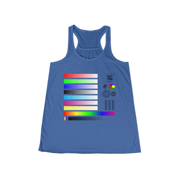 Women's Flowy Racerback Tank - SAMPLE (LIGHT COLORS)