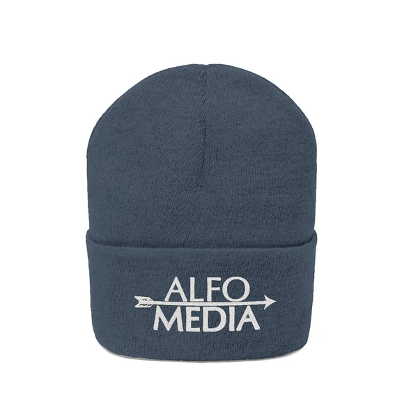 Alfo Media | White Arrow Beanie