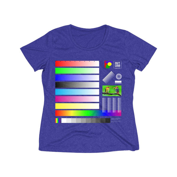 Women's Heather Wicking Tee - SAMPLE (DARK COLORS)
