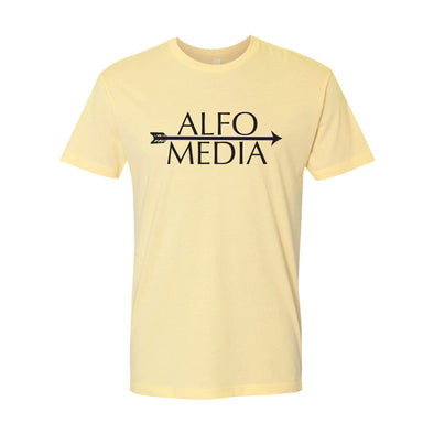 Alfo Media T-shirt - Black on Yellow - Outloud Merch