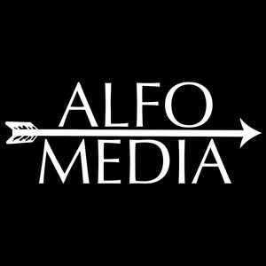Alfo Media T-shirt - White on Black