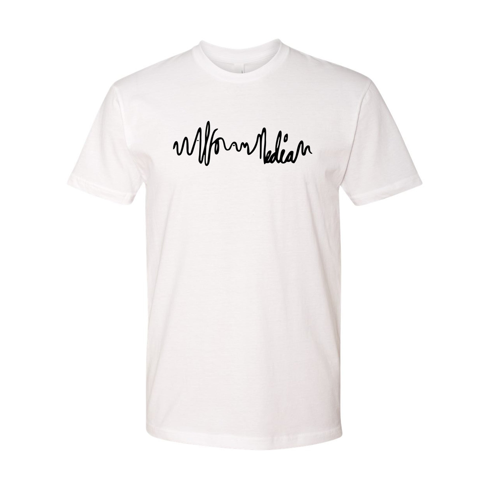 Logo Script T-shirt - Black on White