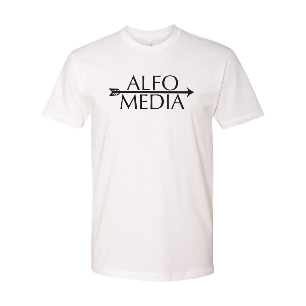Alfo Media T-shirt - Black on White