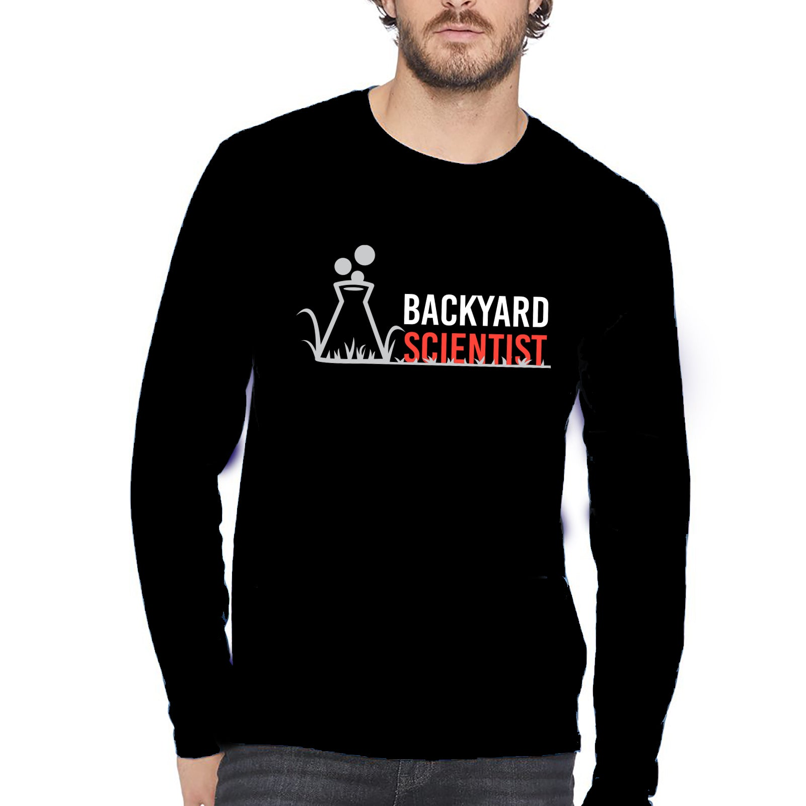 Backyard Scientist Longsleeve - Black