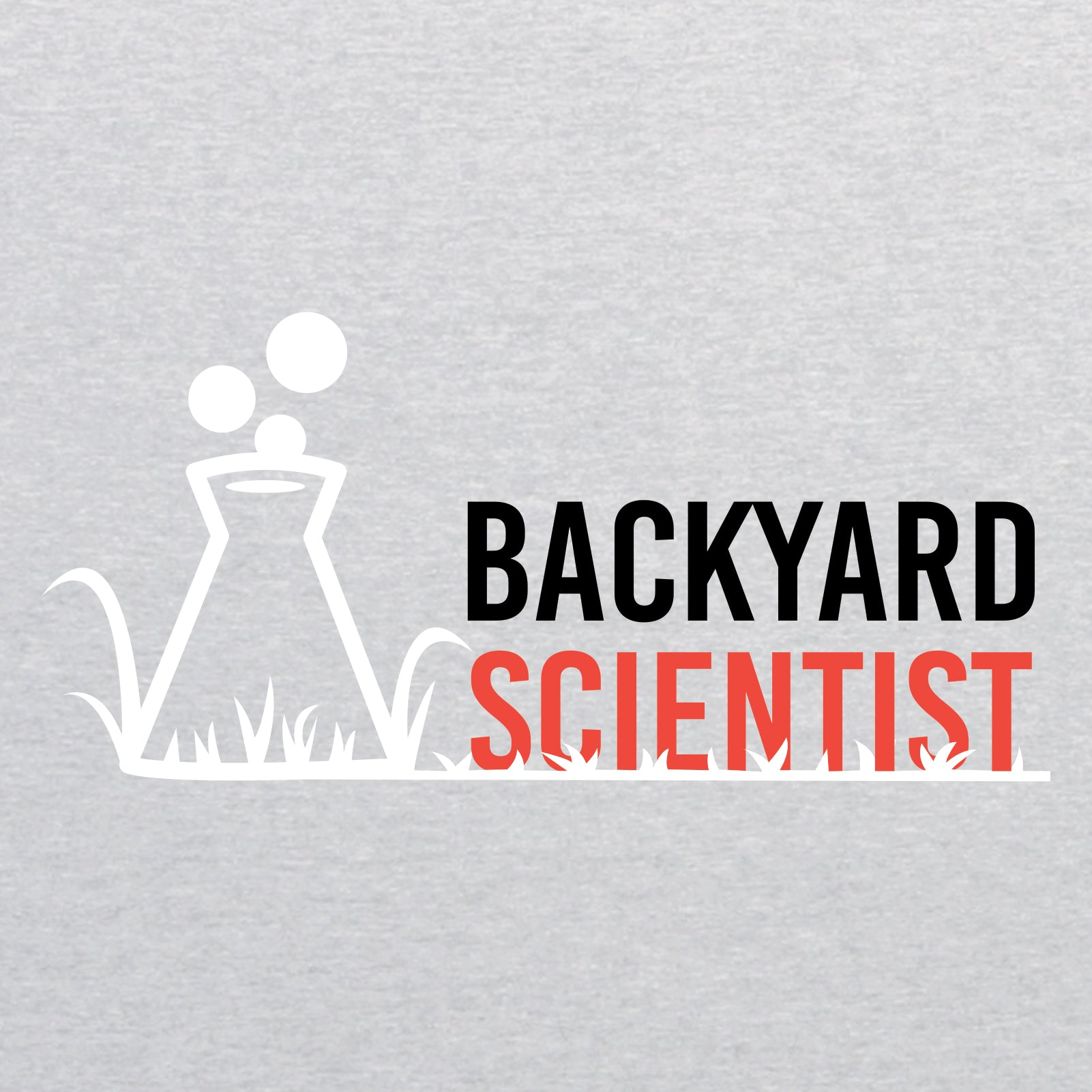 Backyard Scientist Left Chest - Heather Grey