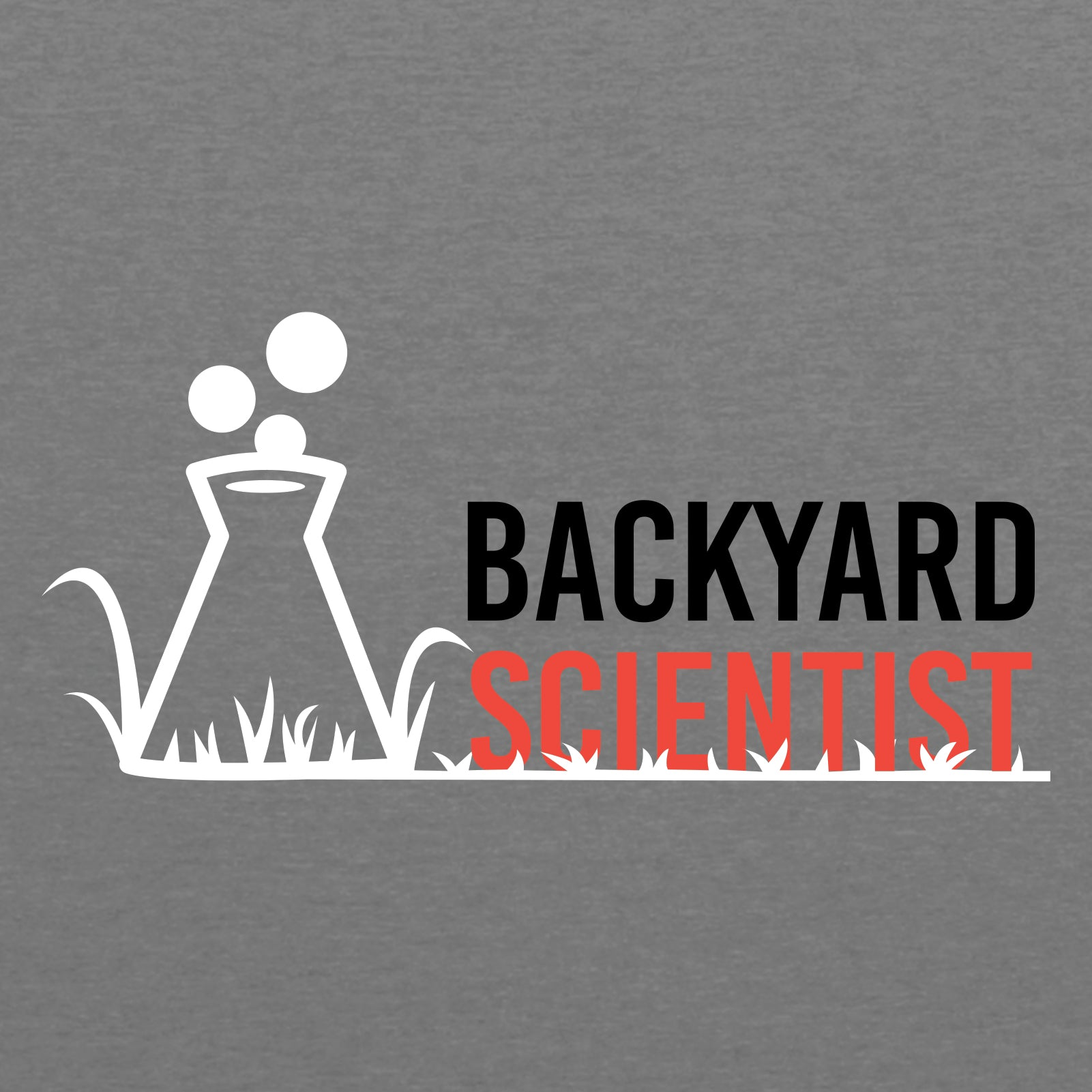 Backyard Scientist Left Chest - Premium Heather
