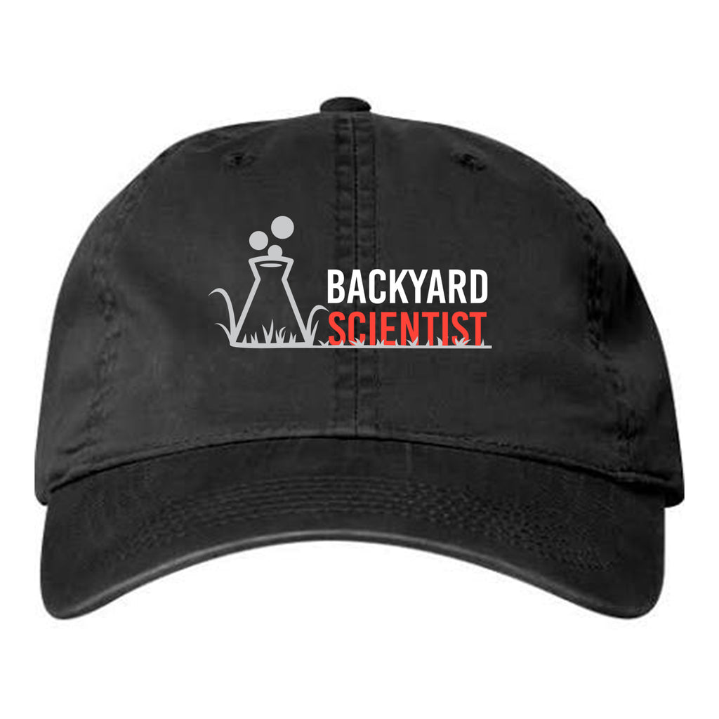 Backyard Scientist Adjustable Hat - Black