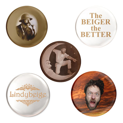 Lindybeige Badge Collection - Pack of 5 - outloud-merch