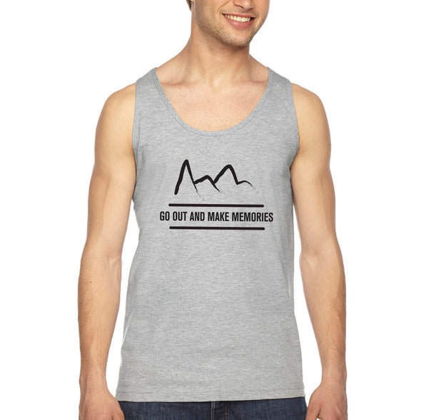 Premium Mountain Logo Tank - Heather Grey - Outloud Merch