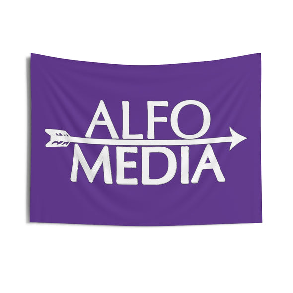 Alfo Media | White Arrow Wall Tapestry