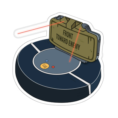Backyard Scientist | Claymore Roomba Sticker