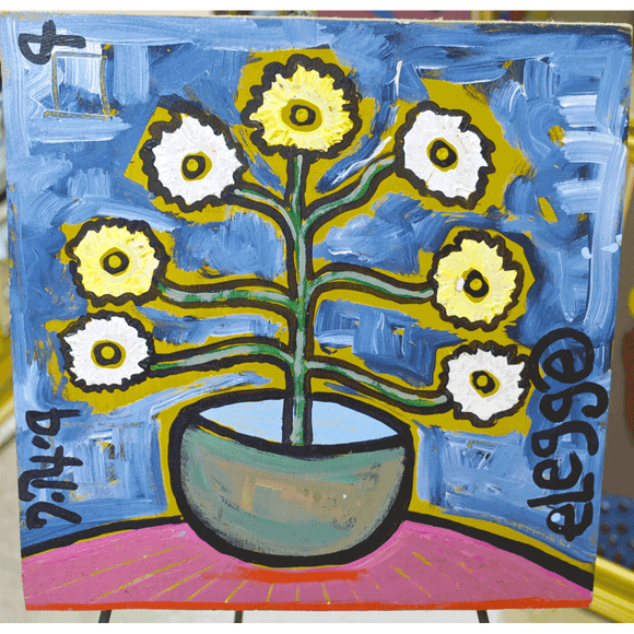 """Vase of Yellow Flowers"""