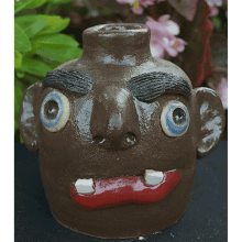 """Red -Lip"" Face Jug"